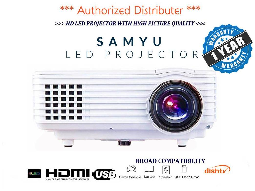 SAMYU RD 805 Mini Home Entertainment Multimedia Projector (White)