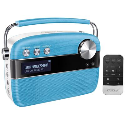 Saregama Carvaan SC01 Portable Wired Digital Music Player (Electric Blue)