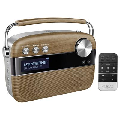 Saregama Carvaan R20005 Portable Wired Digital Music Player (Brown)