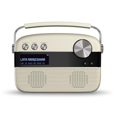 Saregama Carvaan Portable Wired Digital Music Player (Porcelain White)