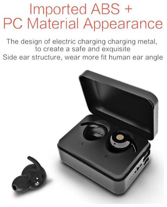 Sound One X6 True Wireless Bluetooth Earbuds/Earphones with Mic, Charging Case (Black)