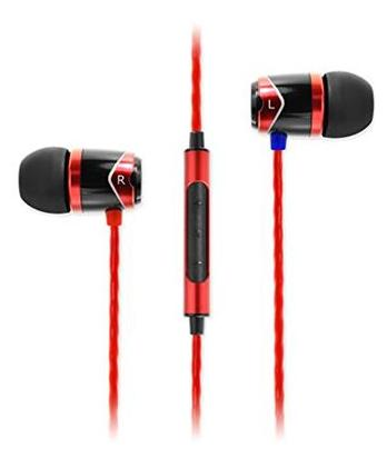 Soundmagic E10C-BKRD In Ear Earphones (Black & Red)