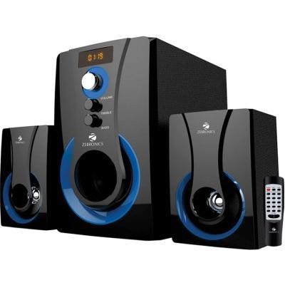 Zebronics 2.1 SW2490 RUCF Home Audio Speaker (Black & Blue)
