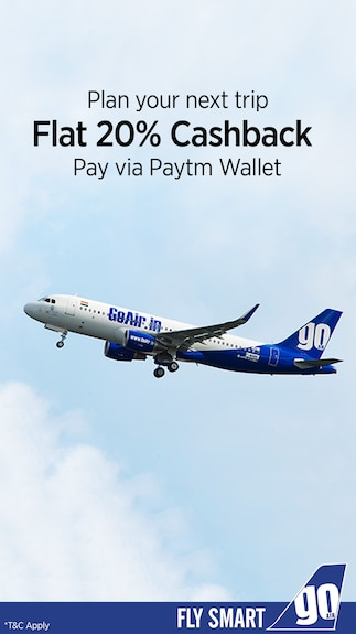 Flat 20% cashback when you pay via Paytm Wallet @ Go Airlines