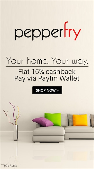 Get 15% cashback upto Rs.500 @Pepperfry
