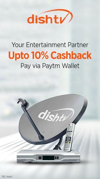 Get 10% cashback when you pay via Paytm Wallet @ Dishtv