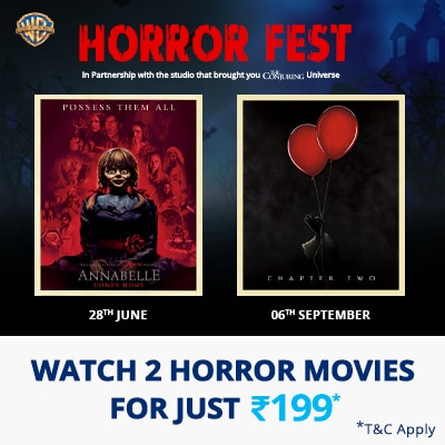 Get 100% Cashback* on 2 Horror Movies