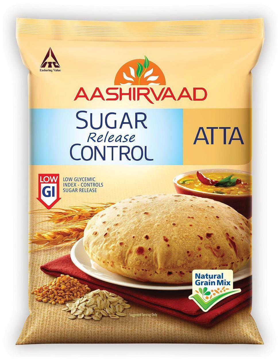 Aashirvaad Atta - Sugar Release Control 5 kg