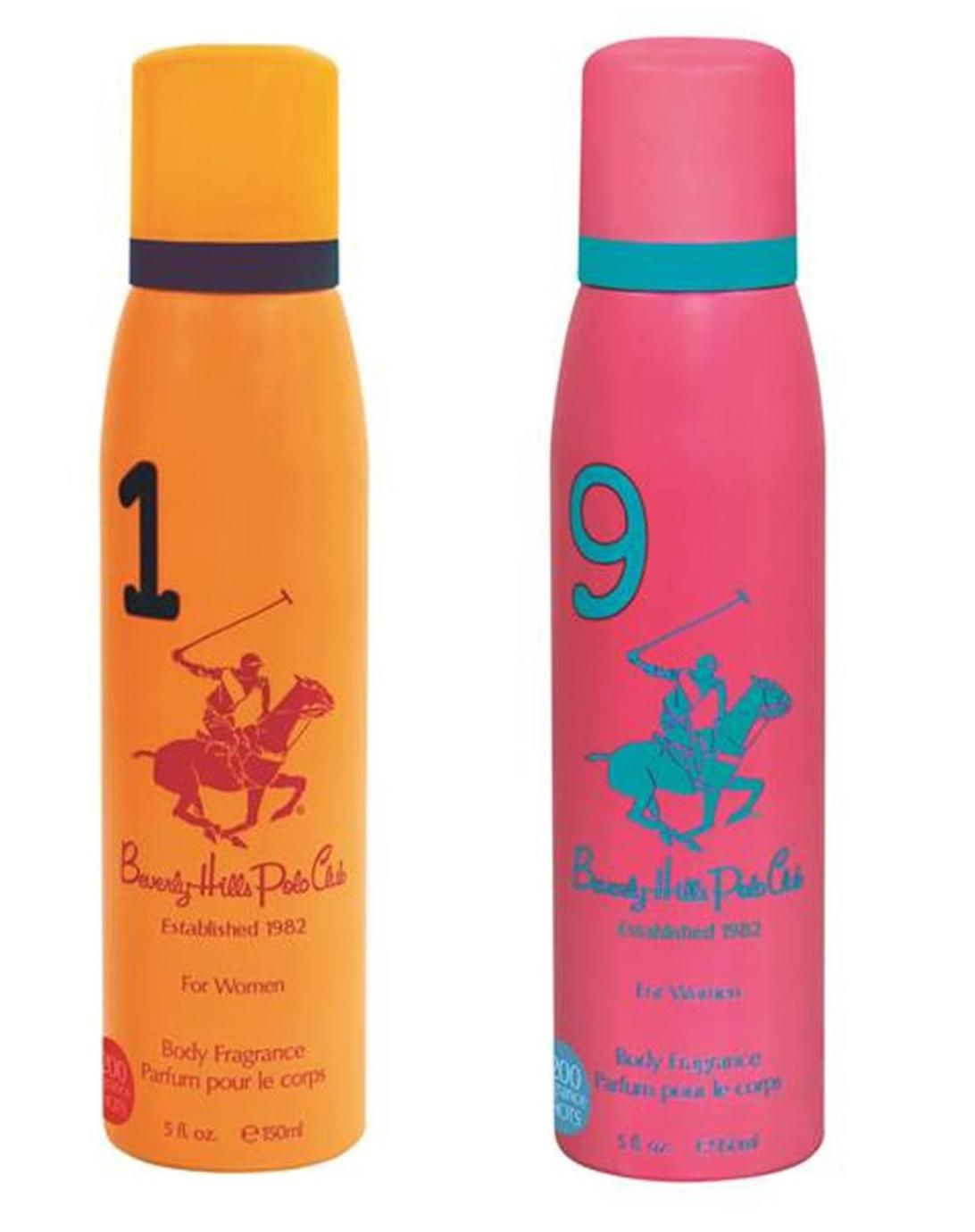 Beverly Hills Polo Club Sport Deodorant for Female No 1 9 (Pack of 2) 300ml