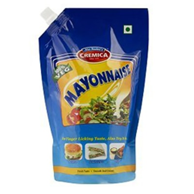Cremica Veg Mayonnaise Squeeze Pouch 900G 1Pc. Paytm Mall Rs. 131