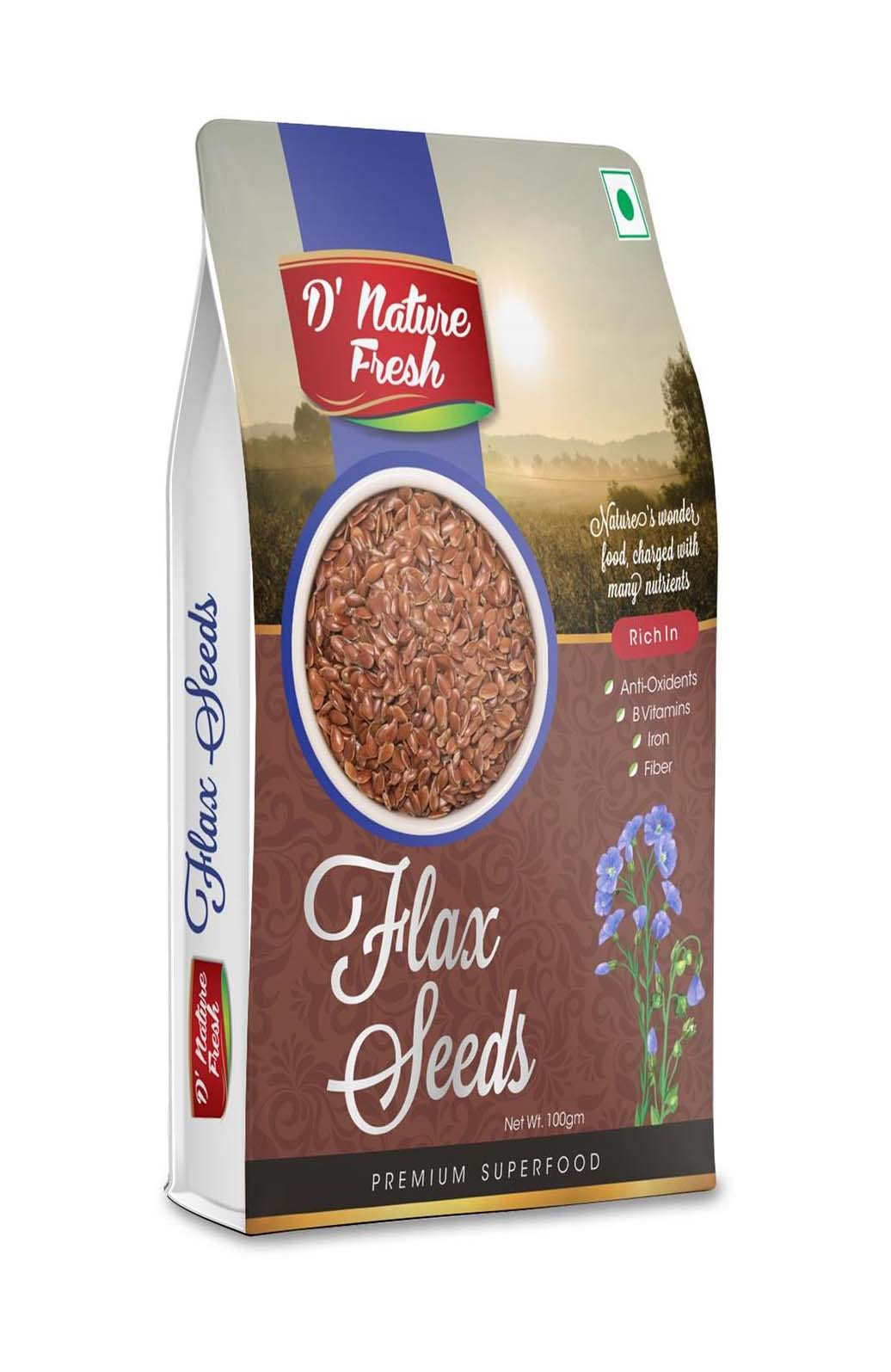 D' Nature Fresh Flax Seeds