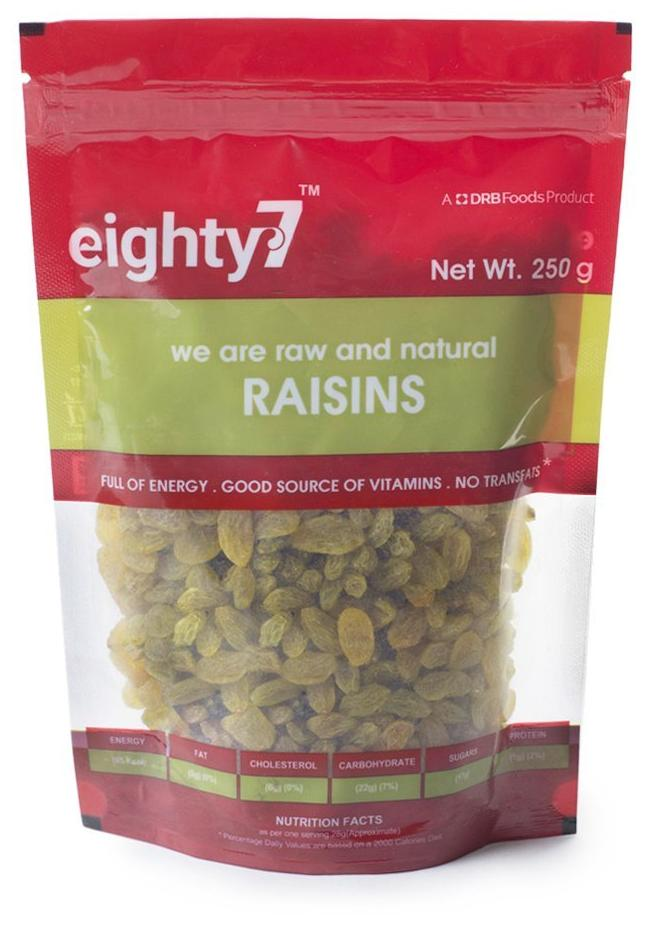 Eighty7 Raisins 250G 1