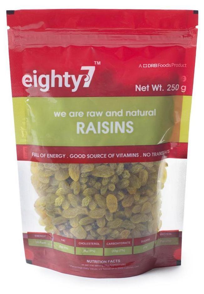 Eighty7 Raisins 250G