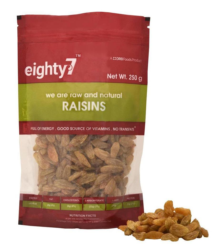 Eighty7 Raisins 250 G 1Pc