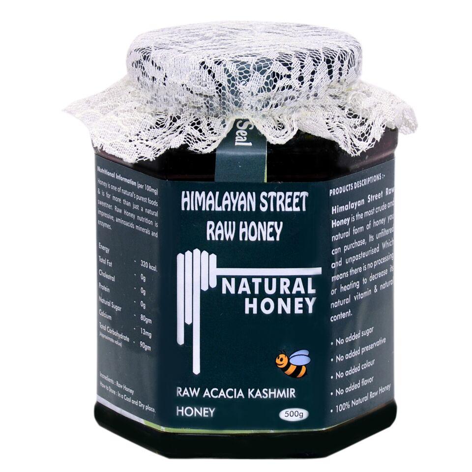 Himalayan Street Raw Honey (500gm x 2) unprocessed Raw Acacia (Kashmir) Honey, 100% Natural Honey