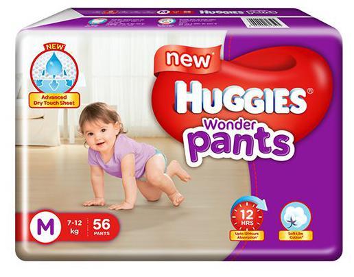 Huggies Wonder Pants Medium Size Diapers 56 pcs