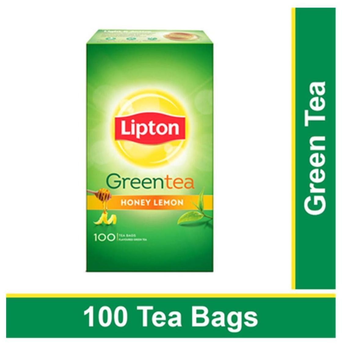 Lipton Honey Lemon Green Tea Bags 100 pcs