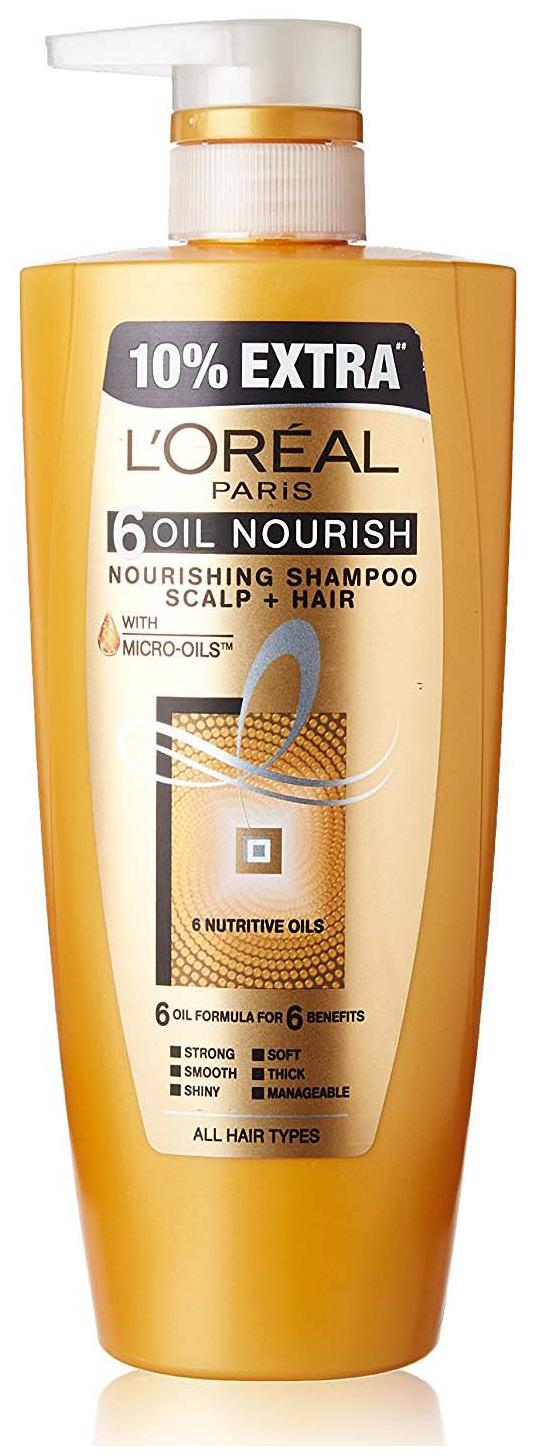 Loreal Paris Hair Expertise 6 Oil Nourish Shampoo 640 ml + 10% Extra