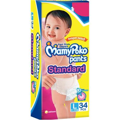 Mamy Poko Extra Absorb Pants Diaper L - 34 STD Pcs