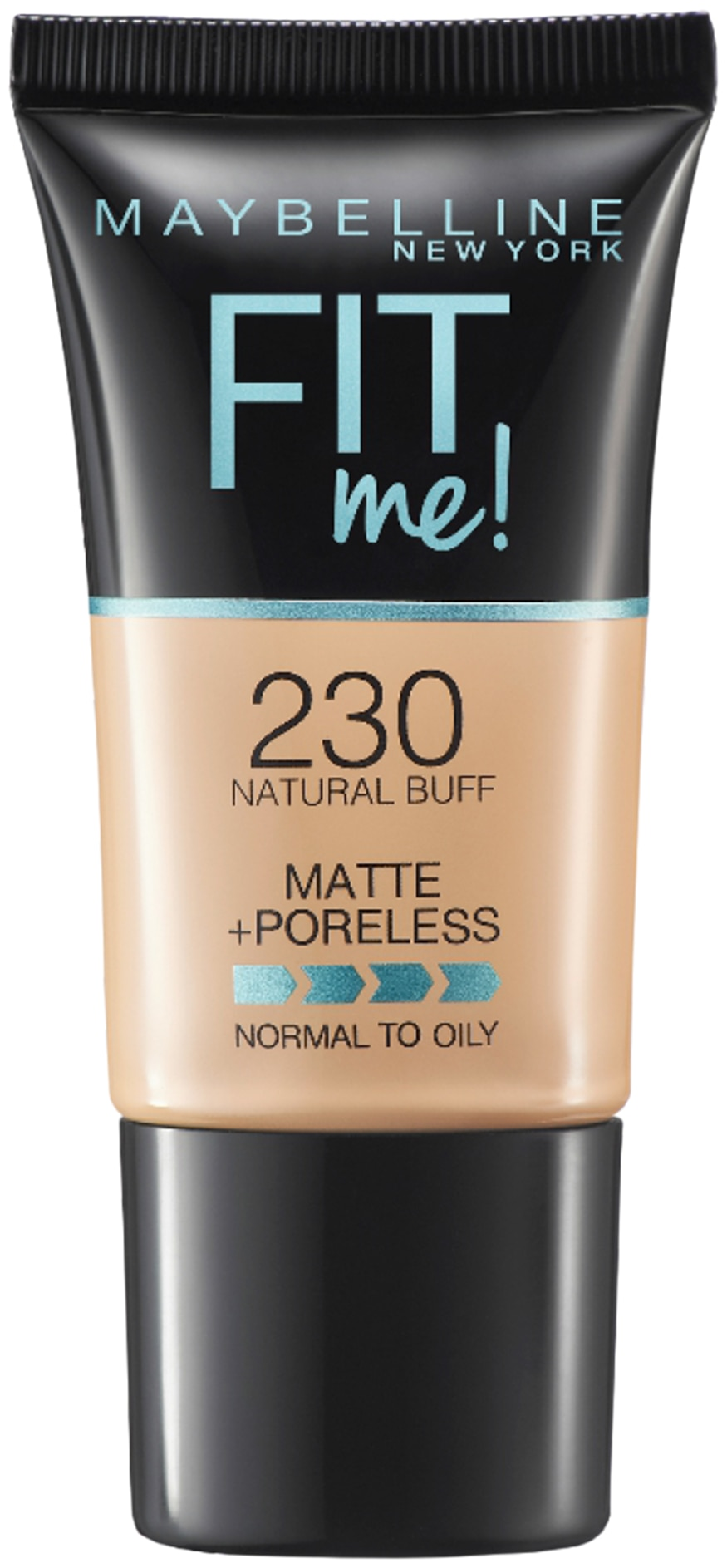 Maybelline New York Fit Me Matte+Poreless Liquid Foundation Tube;230 Natural Buff 18gm
