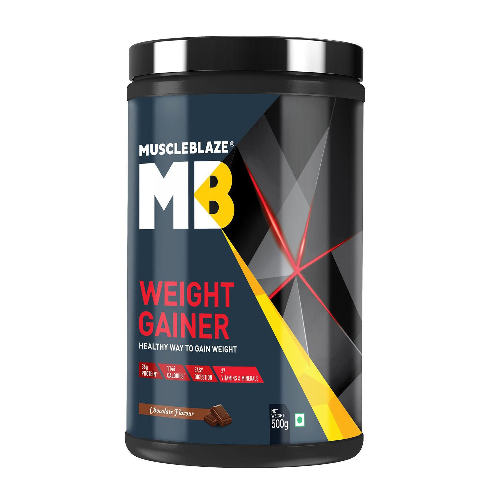 Muscleblaze Weight Gainer 0.49 kg (1.1 Lb)/500 gm - Chocolate