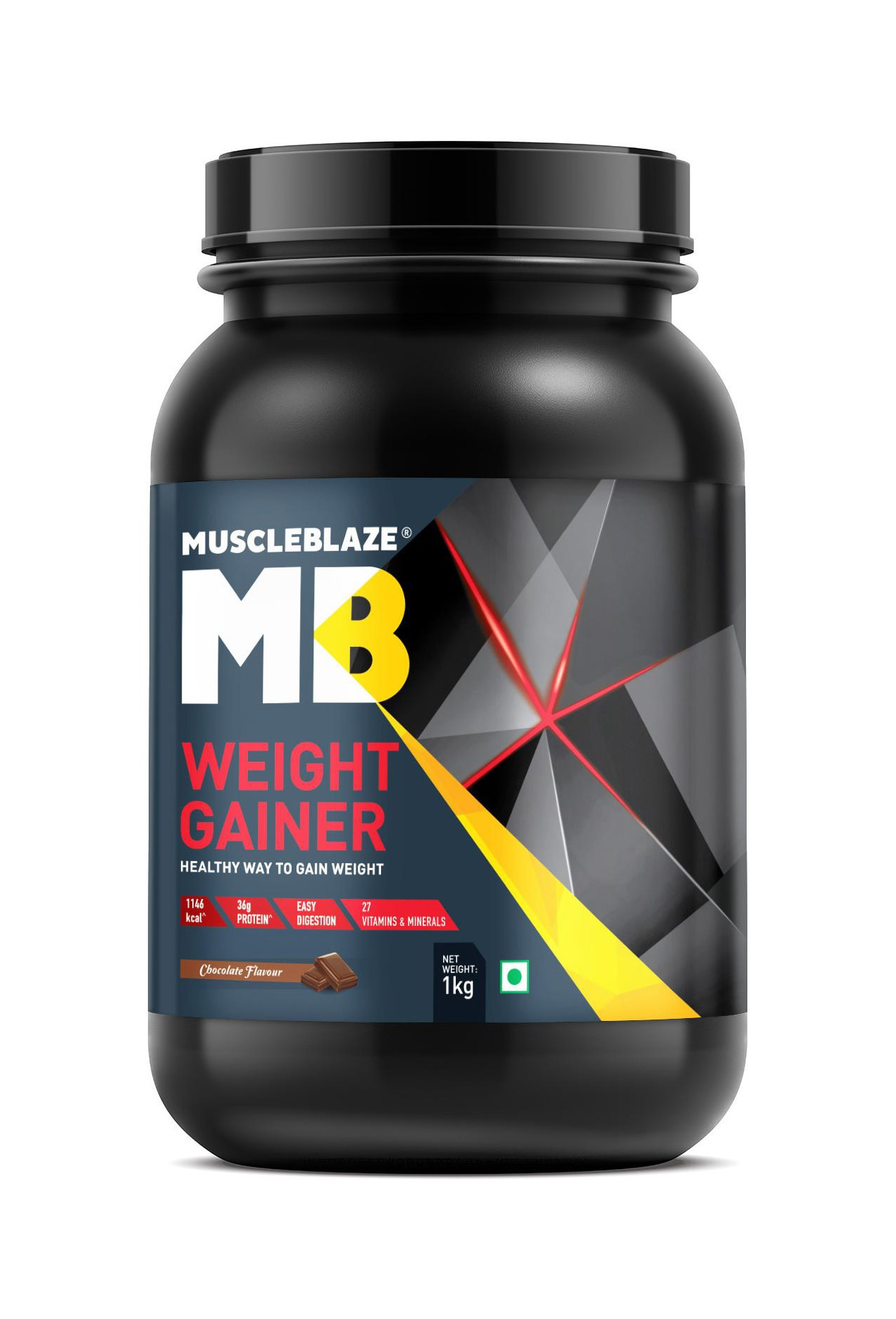 Muscleblaze Weight Gainer 2.2 Lb/1 kg - Chocolate