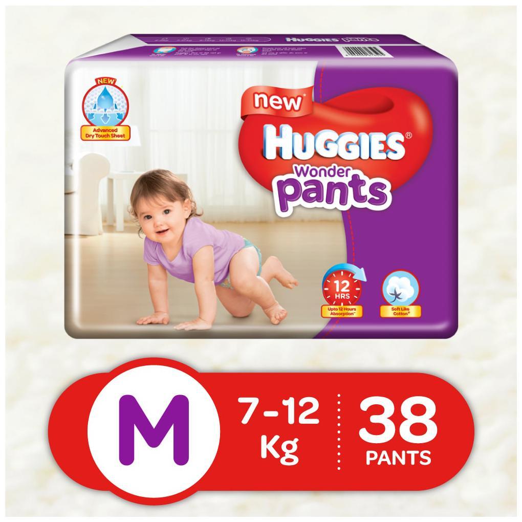 New Huggies Wonder Pants Medium Size Diapers