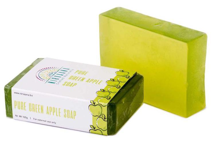 Nirvaana Handmade Natural Green Apple Soap 100g Paytm Mall Rs. 4.00