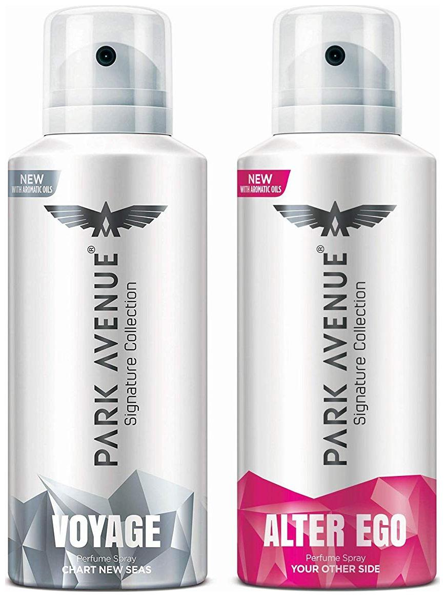 Park Avenue Voyage , Alter Ego Signature Deo For Men 140 ml each (Pack of 2)