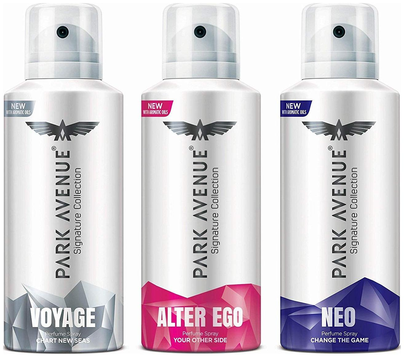 Park Avenue Voyage Alter Ego , Neo Signature Deo For Men 140 ml each(Pack of 3)