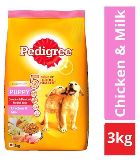 Pedigree Dry Dog Food - Chicken & Milk for Puppy 3 kg