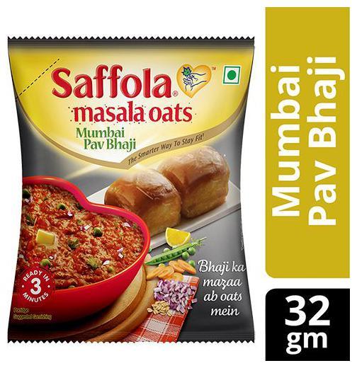 Saffola Oats - Masala, Mumbai Pav Bhaji 32 gm