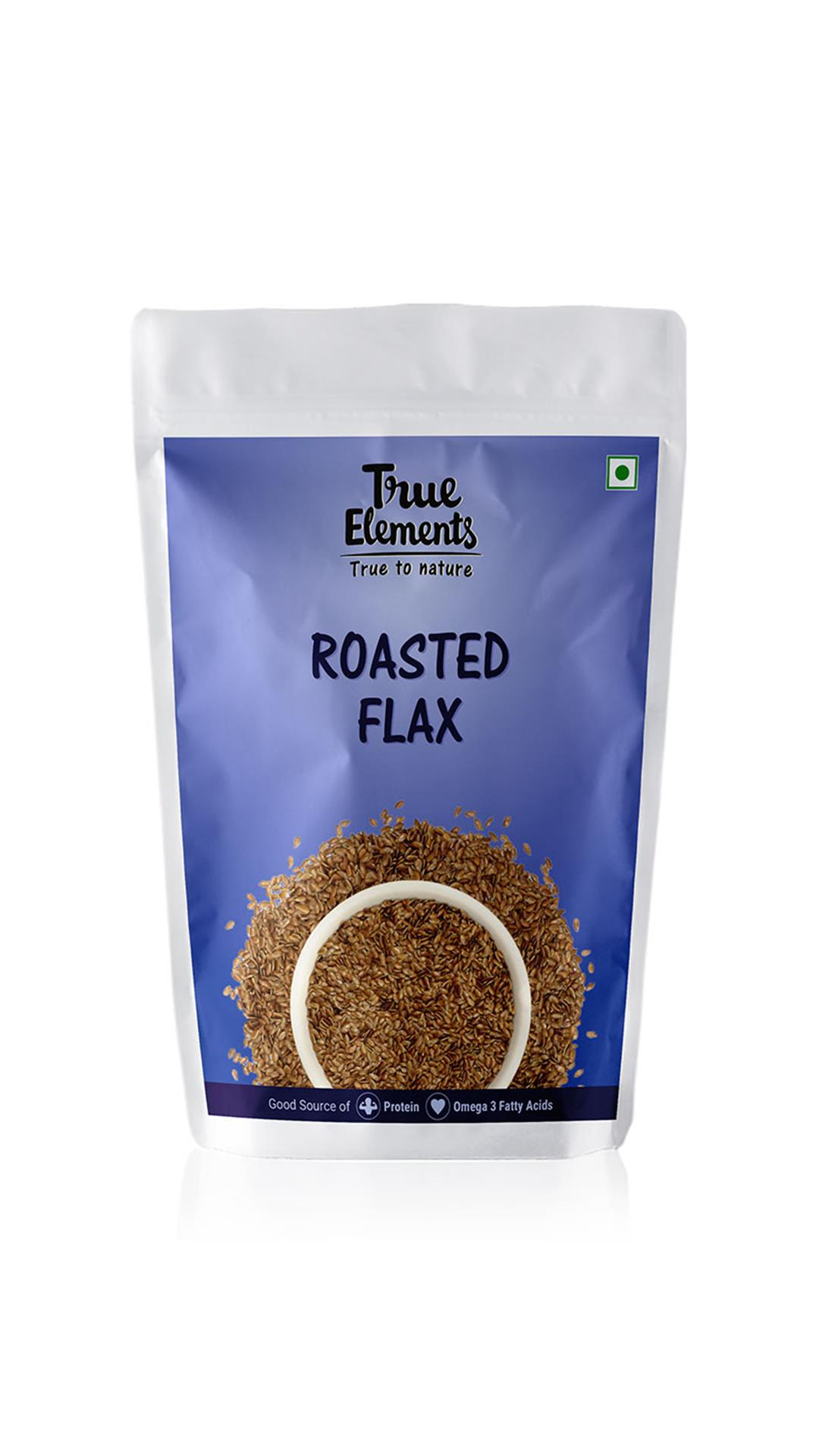 True Elements Roasted Flax Seeds 500gm