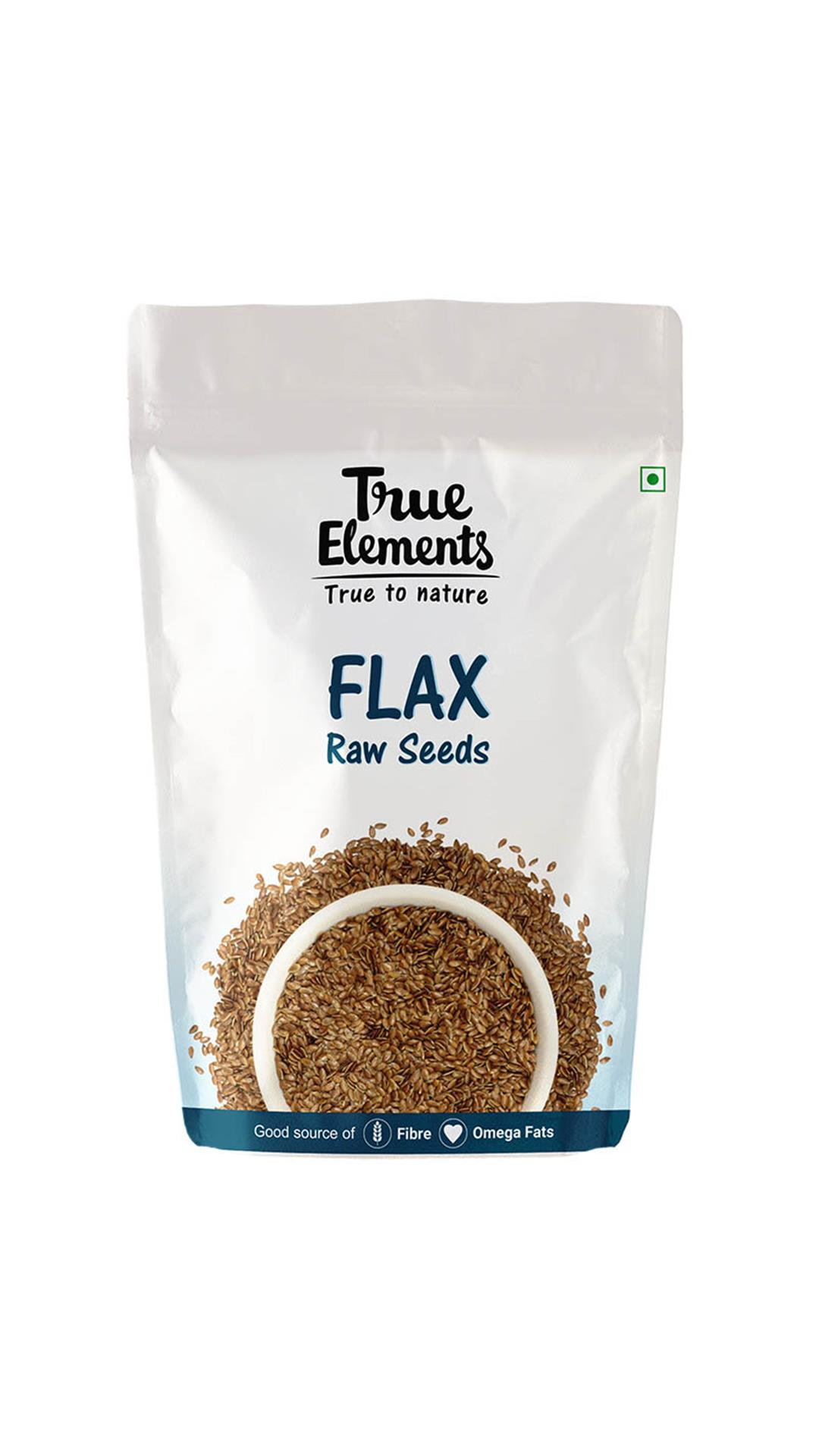True Elements Raw Flax Seeds 500gm