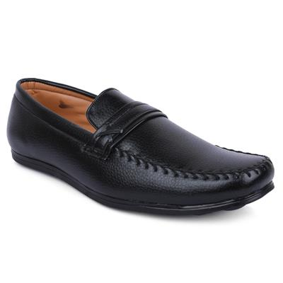 ACTION SHOES DOTCOM MEN Loafer SHOES DS-44-BLACK