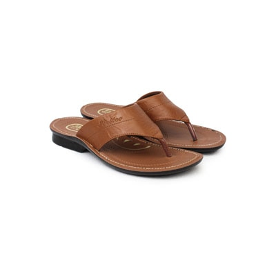 Action Shoes Flotters Men Slippers/Sandals Pg-1465-Tan