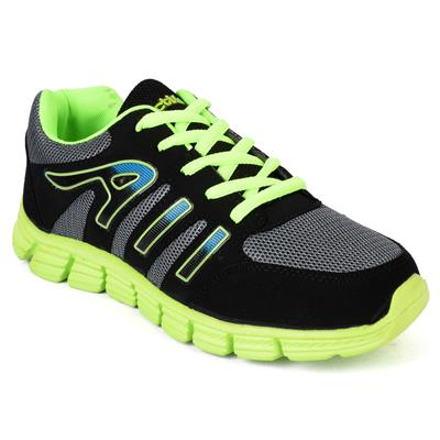 Action Shoes Men Sports Shoes 415-Grey-Green