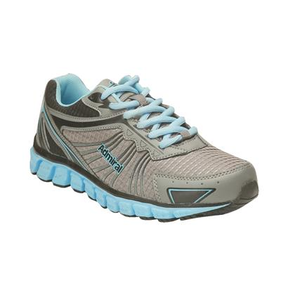 Admiral Women's Grey Aqua Ignite Running Shoes