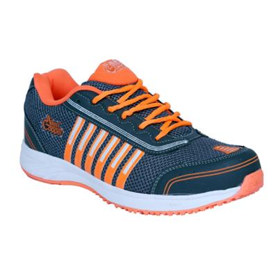 Allen Cooper Grey Orange Sports Shoes AC-1005