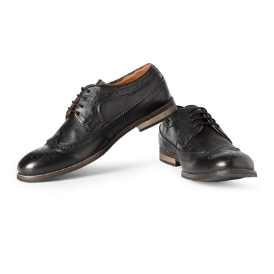 Allen Solly Black Leather Formal Shoes