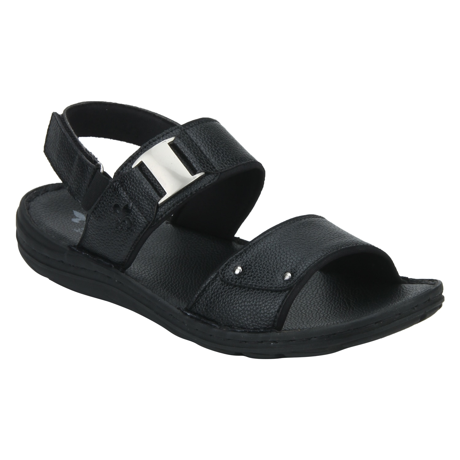 Bond Street By Red Tape Men Black Velcro Sandals-RSP0581 BLK-10