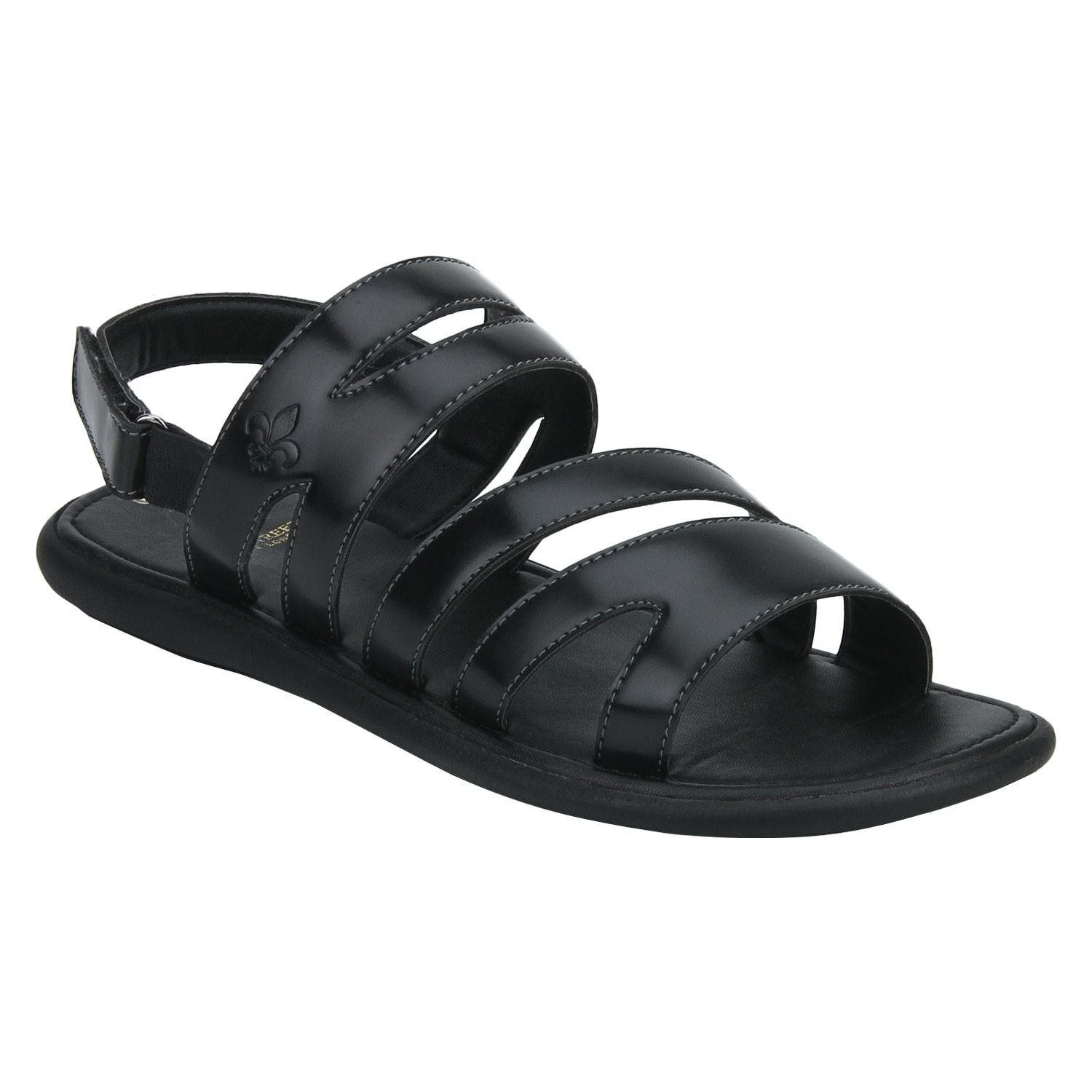 Bond Street By Red Tape Men Black Sandals-RSP0501 BLK-11