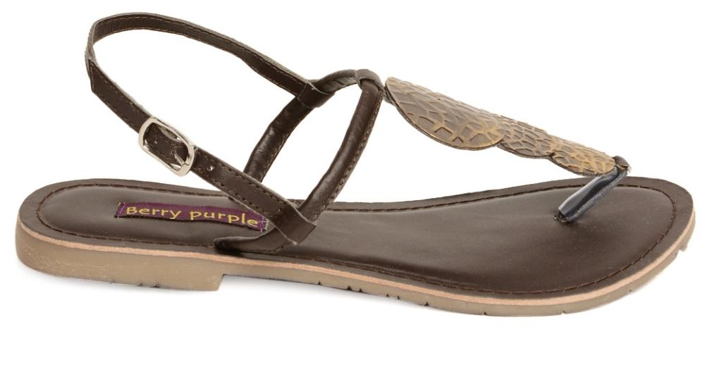 Berry Purple Brown Women Sandals