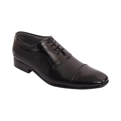 Capland Men's Black Colour Synthetic Leather Formal Shoes