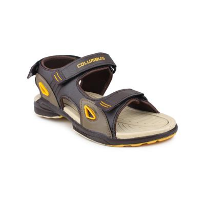 Columbus-AB-933-BeigeBrownGolden Sandals