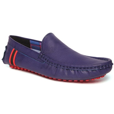 Damochi Blue And Red Loafers