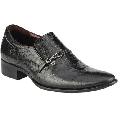 Delize Black Formal Shoes