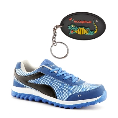 Elligator Mens Spider Running Shoes With Key Chain Combo