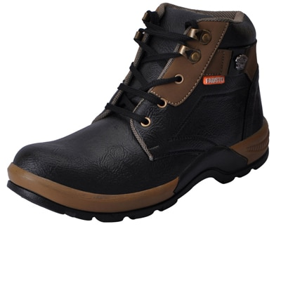 FAUSTO Black Men's Boot