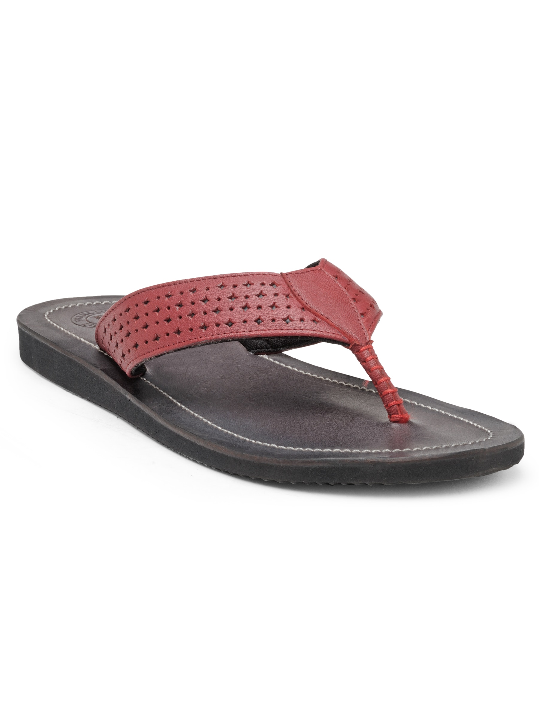 29fb013b9bcb Franco Leone Red Slippers for Men online in India at Best price on ...